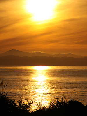 Olympic Sunset - View from Sooke, BC to Olympic National Park