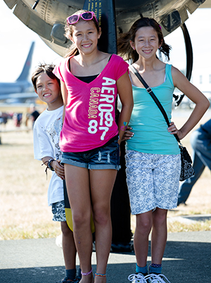 Enjoying family time - Comox Air Show, 2013